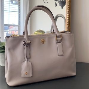 Tory Burch double dip Robinson tote